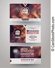 business cards with blurred abstract background - Vector...