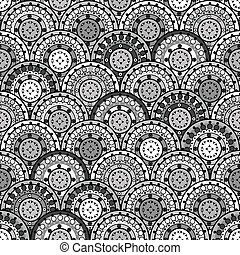 Oriental ornaments seamless in Japanese style