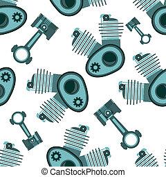 motor bike seamless vector pattern illustratiom clip art