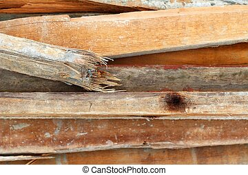 wood pile for the construction
