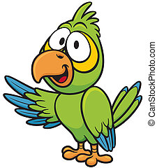 Parrot - Vector illustration of cartoon parrot