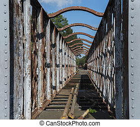 old rusted train at trainstation hombourg - old skeleton...