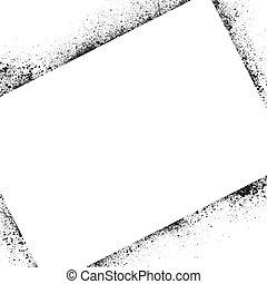 Ink blots frame square