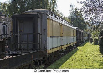 old trains at trainstation hombourg - old rusted train at...