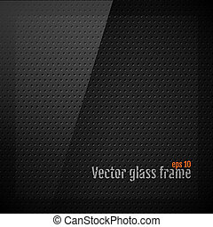 Vector glass frame background on carbon fiber texture