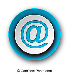 email blue modern web icon on white background