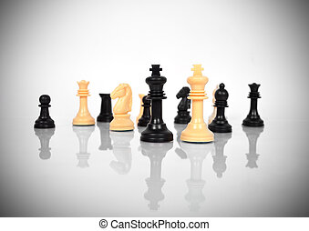 Chess Kings - Black and White Chess Kings and other chess...