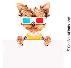 dog going to the movies with banner - dog going to the...