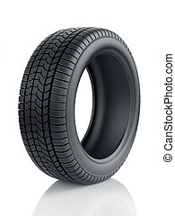 High detaled winter tyre isolated - 3d render of high...