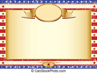 American kraft poster - American dirty poster with a large...