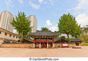 Confucian shrine-school Dongnae Hyanggyo in Busan, Korea -...