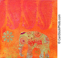 artwork indian style - collage painting indian style,...