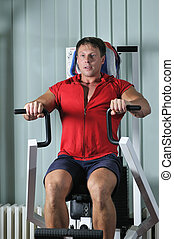 Gymnase, Travail, dehors, fort, homme