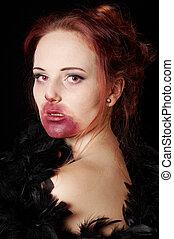 female vampire or zombie