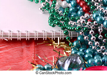 Elegant christmas background with new year decorations