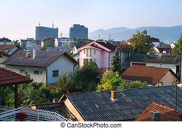 Banja Luka architecture - Skyline of Banja Luka in the...