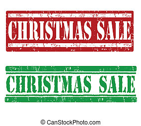 Christmas sale stamps - Christmas sale grunge rubber stamps...