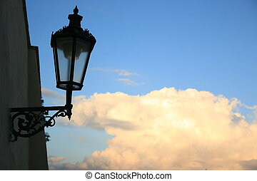 old lantern  - The old lantern in Prague,Czech Republic.
