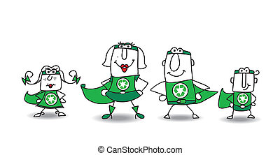 Super Hero green Family - We are the family of superheroes...