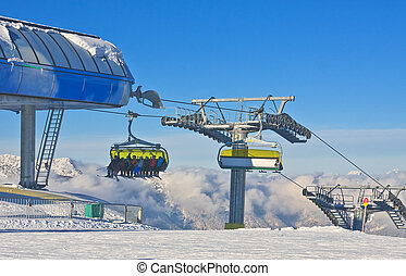Chairlift Ski resort Schladming Austria