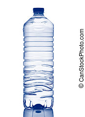 Bottle of mineral water - A bottle of mineral water with...