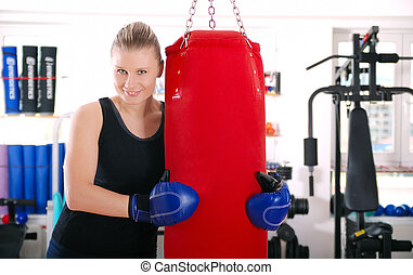 female boxer - young female boxer