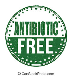 Antibiotic free stamp - Antibiotic free grunge rubber stamp...