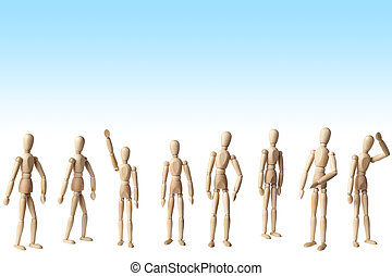 Collection of Artist mannequin in various poses