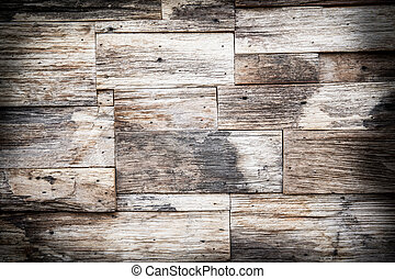 Old wood wall texture background - Stack of Brown wood wall...