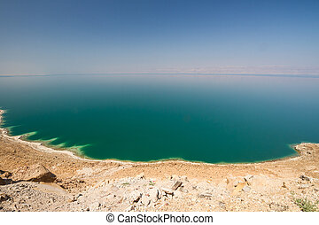 The Dead Sea - The vast, green expanse of the waters of the...