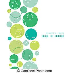 Vector abstract green circles vertical frame seamless...