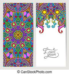 decorative label card for vintage design, ethnic pattern,...