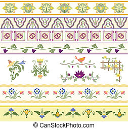 Floral Dividers, Borders, and Trim