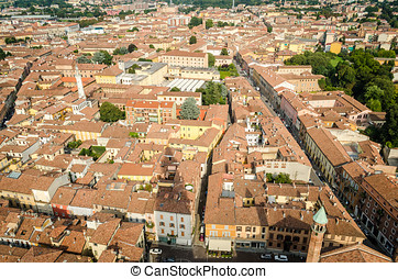 Cremona, Italy, panorama from the Torrazzo