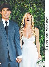 coppia, giorno, matrimonio