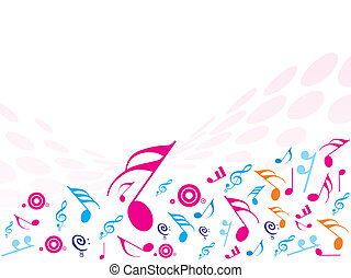 Vector illustration of Musical Notes. ideal for background!
