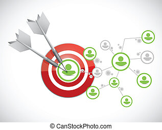target network connection illustration design over a white...