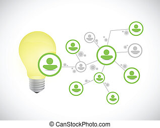 idea people network illustration design over a white...