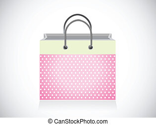 pink shopping bag illustration