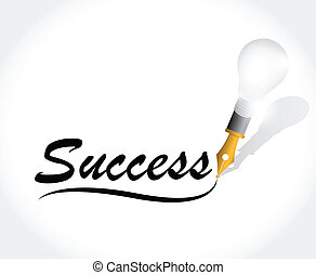 success written text illustration design over a white...