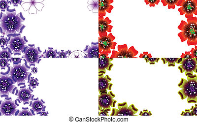 Set of Abstract flower background with place for your text. Vector