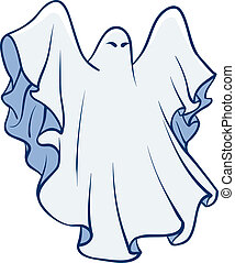 Ghost - An Illustration of a White sheet ghost