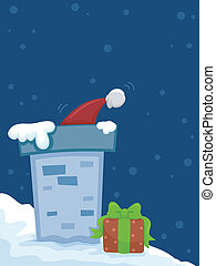 Christmas Hat - Illustration Featuring a Christmas Hat...