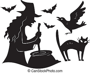 Halloween Design Elements - Illustration Featuring the...