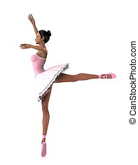 ballet dancer - image of ballet dancer. The woman is CG