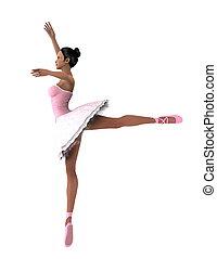 ballet dancer - image of ballet dancer. The woman is CG