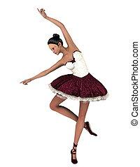 ballet dancer - image of ballet dancer. The woman is CG.