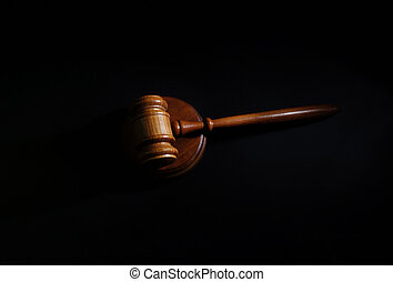 gavel on black