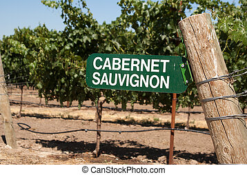 Sign for Cabernet Sauvignon grapes - Cabernet Sauvignon...