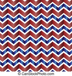 Chevron pattern in red, white, blue - Red, white and blue...